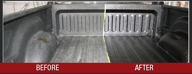 Check out this before and after of a trashed truck bed made like-new.