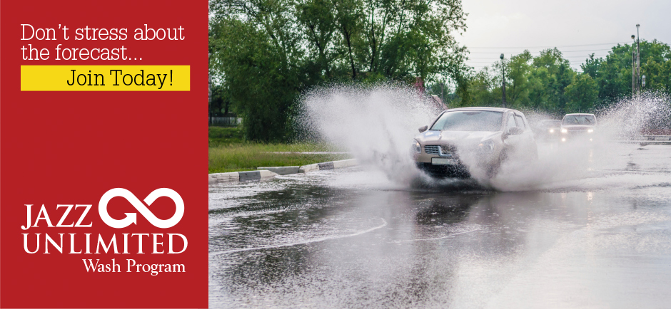 Jazz Car Wash Unlimited Wash Program. Don't stress about the forecast. Join today!