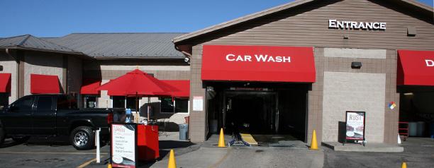 Updated car wash entrance